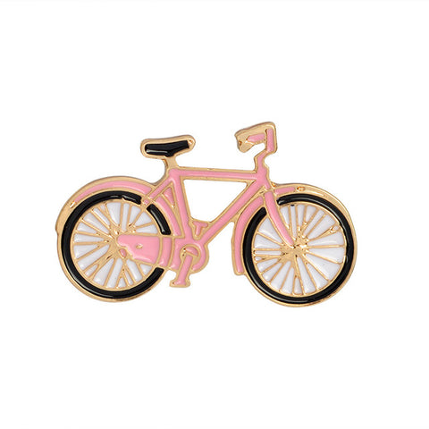 Pink Bike Pin - Tumblr Pins and Patches - Peachy Pins
