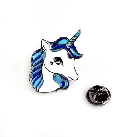 Blue Unicorn Pin - Tumblr Pins and Patches - Peachy Pins