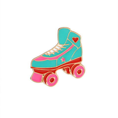 Cute Rollerskates Pin - Tumblr Pins and Patches - Peachy Pins