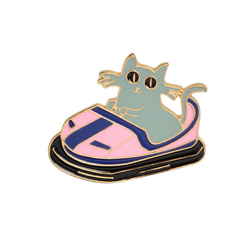 Bumper Cat Pin - Tumblr Pins and Patches - Peachy Pins
