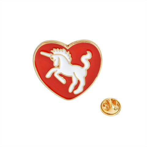 Unicorn Heart Pin - Tumblr Pins and Patches - Peachy Pins