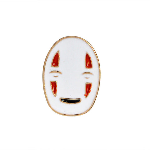 No Face Pin - Tumblr Pins and Patches - Peachy Pins