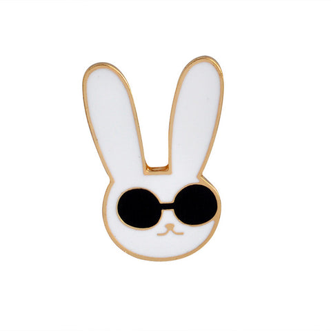 Cool Rabbit Pin - Tumblr Pins and Patches - Peachy Pins