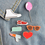 Lipstick Pin - Tumblr Pins and Patches - Peachy Pins