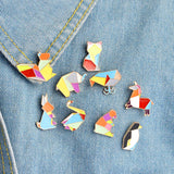 Origami Pin Set - Tumblr Pins and Patches - Peachy Pins