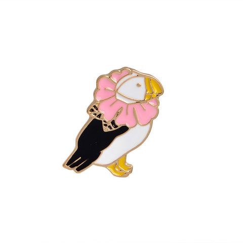 Flower Bird Pin - Tumblr Pins and Patches - Peachy Pins
