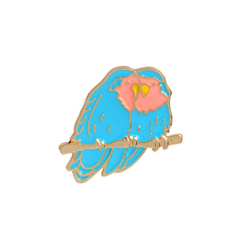 Love Birds Pin - Tumblr Pins and Patches - Peachy Pins