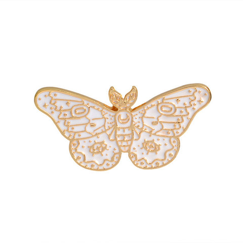 White Butterfly - Tumblr Pins and Patches - Peachy Pins