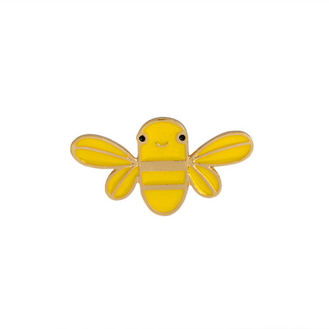 Happy Bee Pin - Tumblr Pins and Patches - Peachy Pins