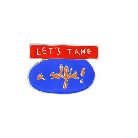 Let's Take A Selfie Pin - Tumblr Pins and Patches - Peachy Pins