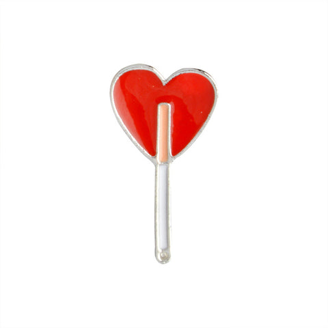 Heart Lollipop Pin - Tumblr Pins and Patches - Peachy Pins