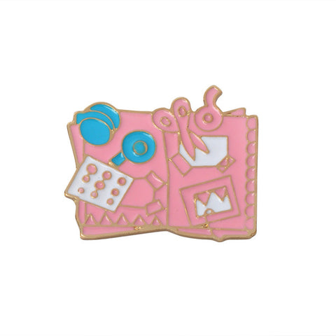 Scrapbook Pin - Tumblr Pins and Patches - Peachy Pins