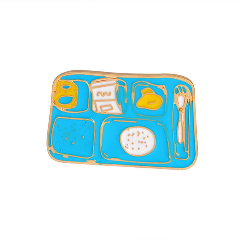 Food Plate Pin - Tumblr Pins and Patches - Peachy Pins