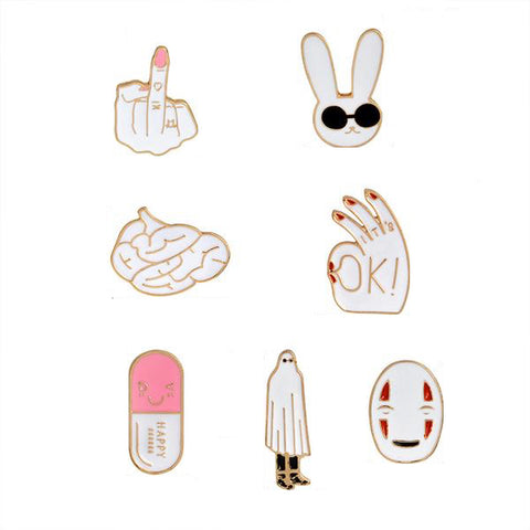 Rad People Pin Set - Tumblr Pins and Patches - Peachy Pins
