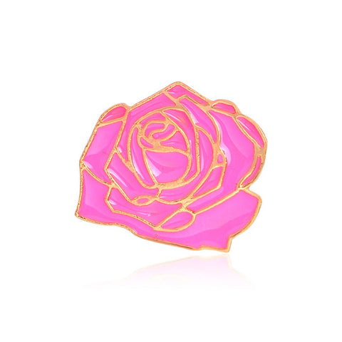 Pink Rose - Tumblr Pins and Patches - Peachy Pins