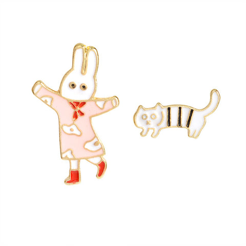 Zoe The Bunny Pin Set - Tumblr Pins and Patches - Peachy Pins
