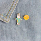 Portia The Bunny Pin Set - Tumblr Pins and Patches - Peachy Pins