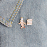 Lola The Bunny Pin Set - Tumblr Pins and Patches - Peachy Pins