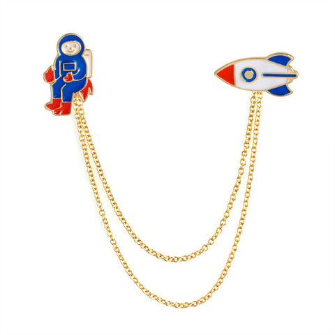 Spaceman Pin Hanger - Tumblr Pins and Patches - Peachy Pins