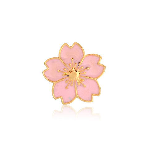 Pink Cherry Blossom Pin - Tumblr Pins and Patches - Peachy Pins