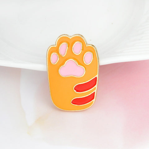 Orange Cat Paw Pin - Tumblr Pins and Patches - Peachy Pins