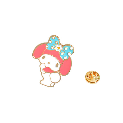 Shy Bunny Pin - Tumblr Pins and Patches - Peachy Pins