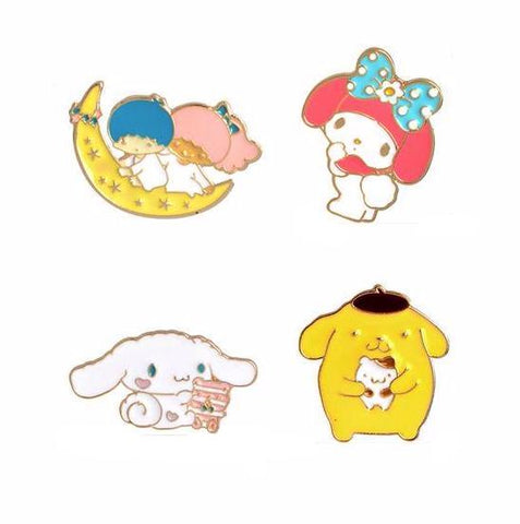 Cute Kawaii Pin Set - Tumblr Pins and Patches - Peachy Pins
