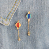 Blue Saturn Star Pin Hanger - Tumblr Pins and Patches - Peachy Pins