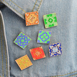 Vintage Tiles Set - Tumblr Pins and Patches - Peachy Pins