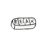 Relax Pill Pin - Tumblr Pins and Patches - Peachy Pins
