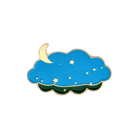 Starry Night Pin - Tumblr Pins and Patches - Peachy Pins