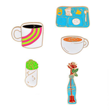 Student Life Pin Set - Tumblr Pins and Patches - Peachy Pins