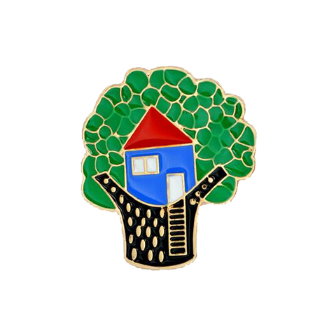 Tree House Pin - Tumblr Pins and Patches - Peachy Pins