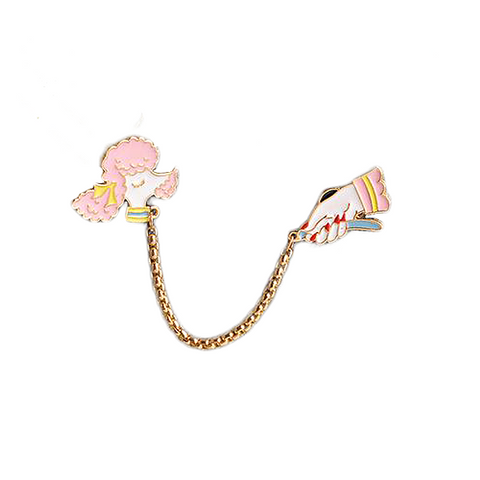 Walk The Poodle Pin Hanger - Tumblr Pins and Patches - Peachy Pins