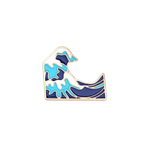 Sea Waves Pin - Tumblr Pins and Patches - Peachy Pins