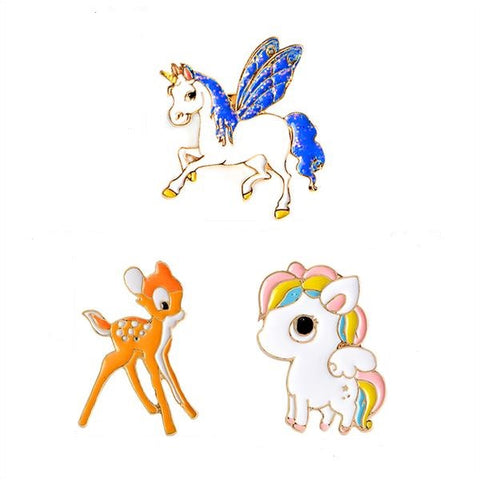 Fairy Animal Pin Set - Tumblr Pins and Patches - Peachy Pins