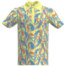 Golfer Yelow camouflage Performance Polo Shirt