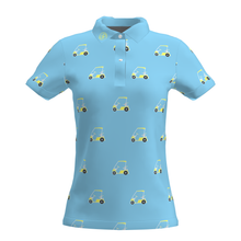 Women Light Blue Golf Cart Performance Polo Shirt