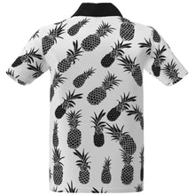 Ananas White Black Golf Cart Performance Polo Shirt