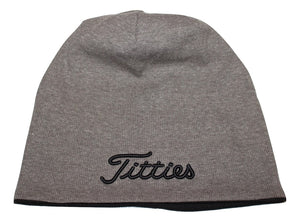 Titties beanie Hat Grey