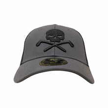 Skull golf cap trucker snap