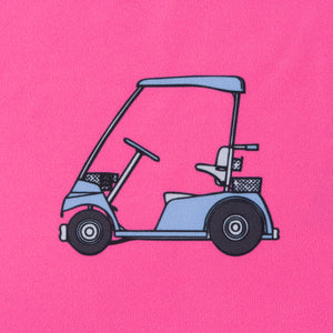 Women Pink Golf Cart Performance Polo Shirt