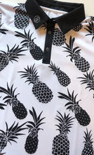 Ananas Golf polo shirt Performance Sport White Black Summer