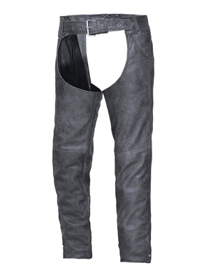 UNIK Tombstone Gray Leather Chaps