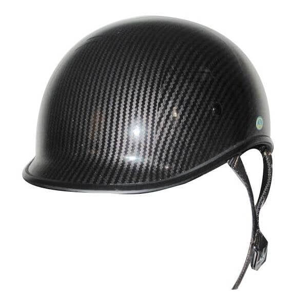 DOT Carbon Fiber LOOK Jockey Polo Motorcycle Shorty Helmet - SKU LL-102CL-HI