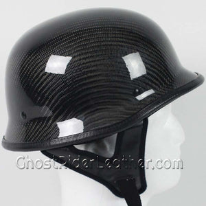 Real Carbon Fiber DOT German Motorcycle Helmet - SKU GRL-103CF-HI - Leather Lollipop
