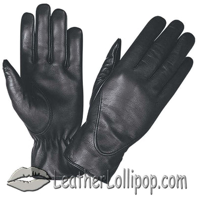 Ladies Full Finger Leather Motorcycle Riding Gloves - SKU LL-1265.00-UN