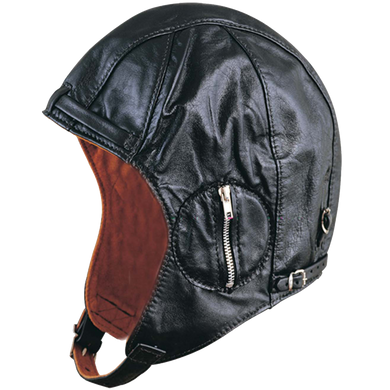 UNIK Leather Aviator Hat With Red Lining - SKU LL-1381-00-UN - Leather Lollipop