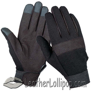 Black Textile Mechanics Gloves - SKU LL-1464.00-UN
