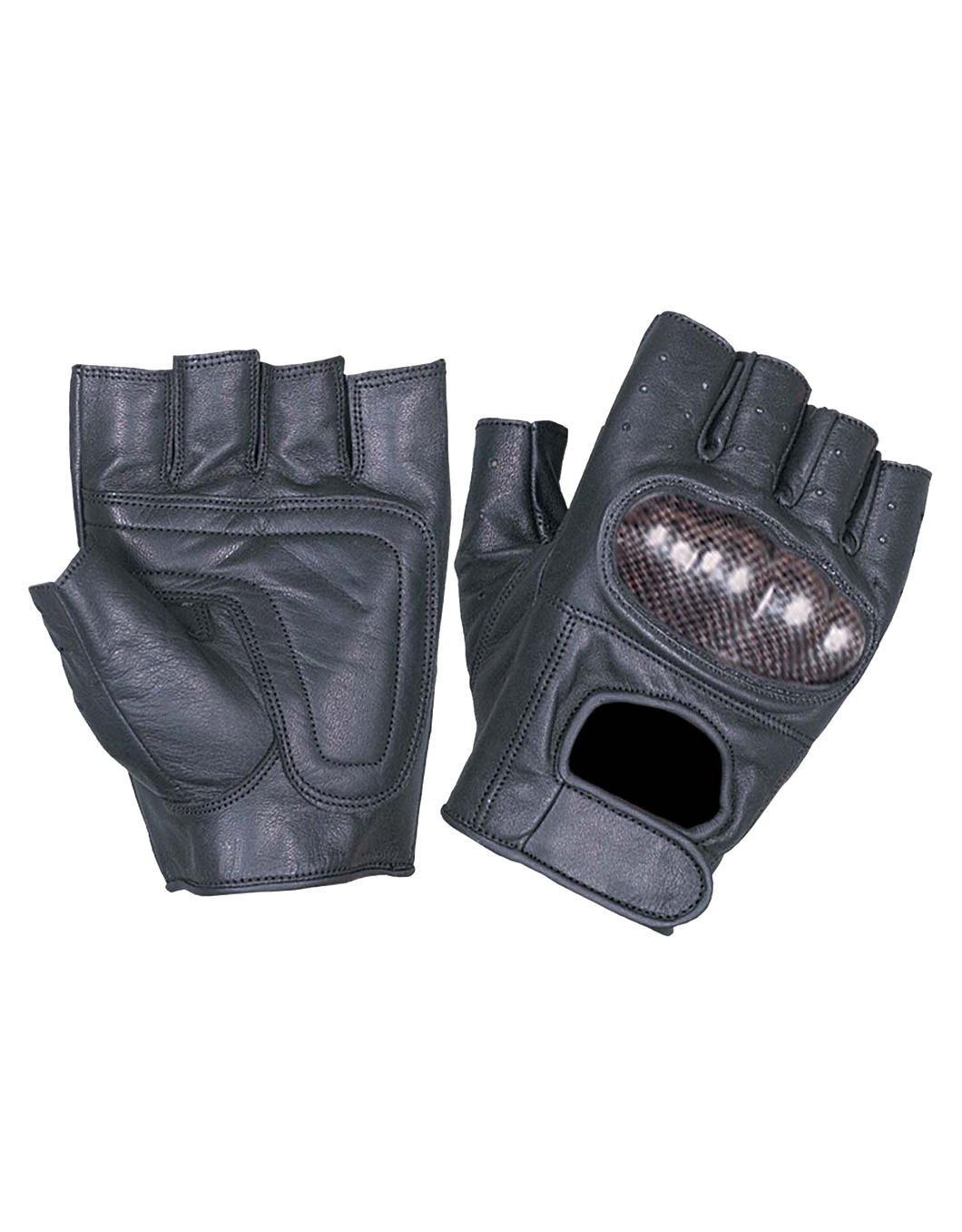 UNIK Fingerless Gloves with Knuckle Armor - Leather Lollipop